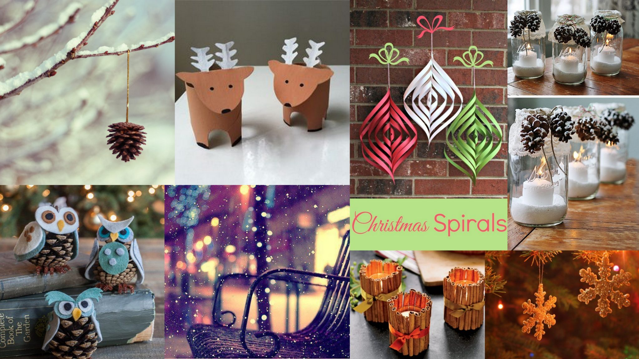Diy 20 cute christmas decorations quick last min ideas for Art and craft home decoration