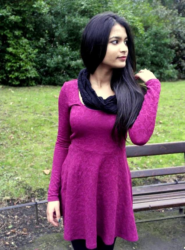berry colored dress from forever 21