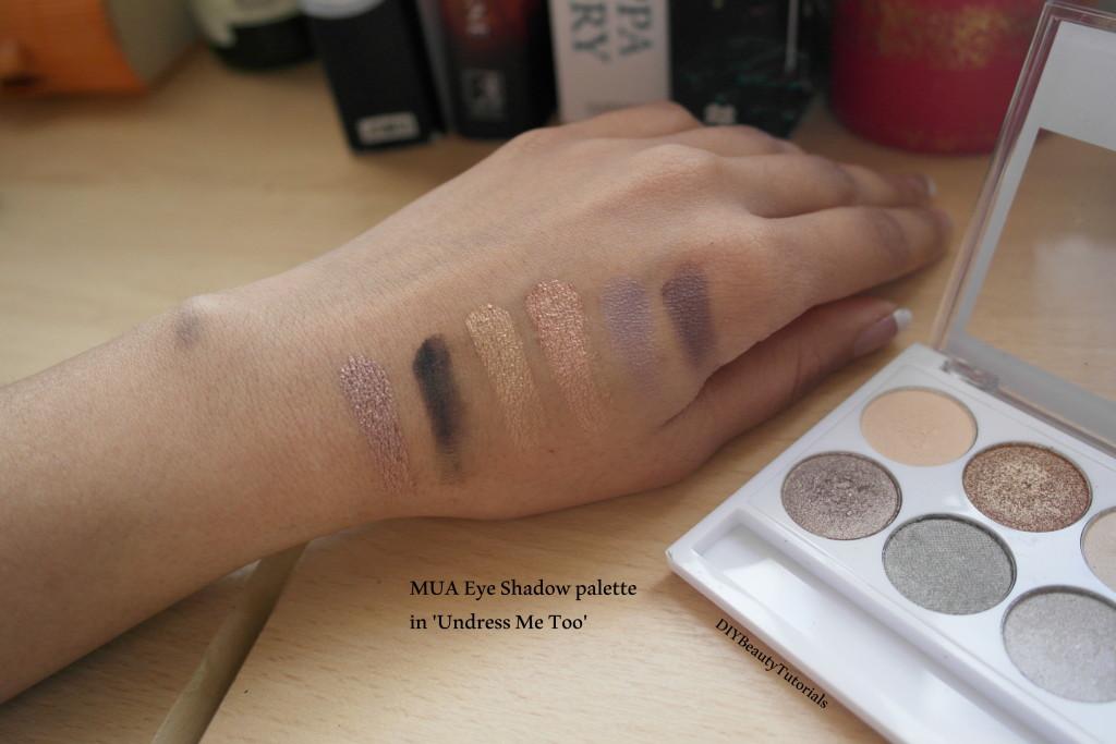 MUA eyeshadow palette in undress me too