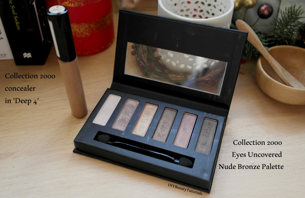 collection 2000 long lasting concealer and eye shadow palette in nude bronze