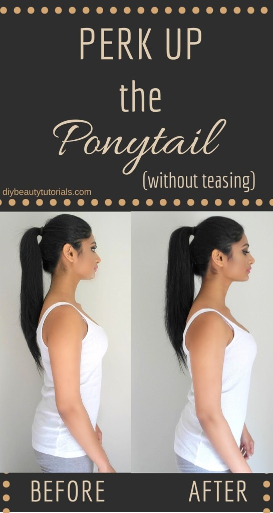 perk up the ponytail without teasing