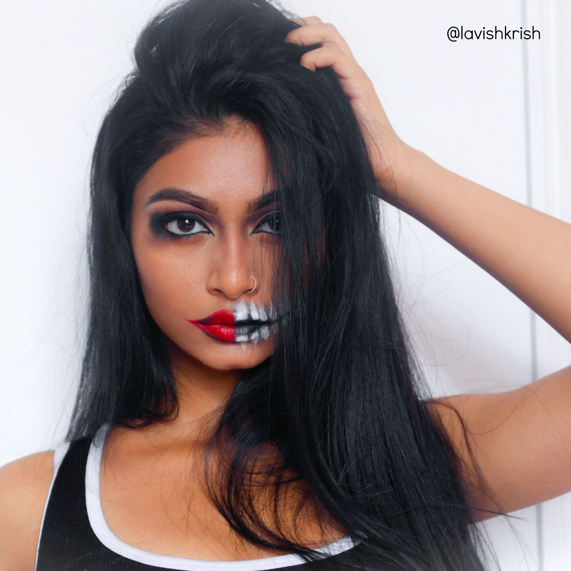 New Video: Easy and Affordable Halloween Makeup   Lavish Krish -