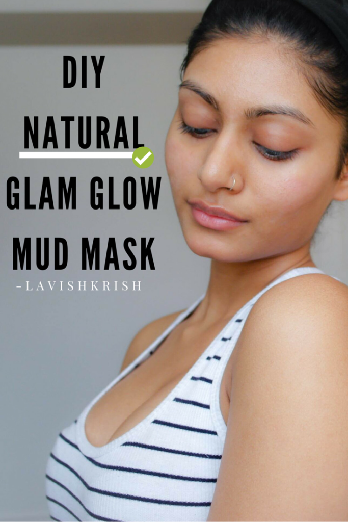 diy natural glam glow mud mask