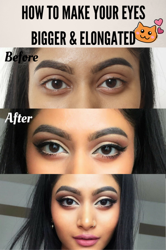Make your eyes look bigger with makeup
