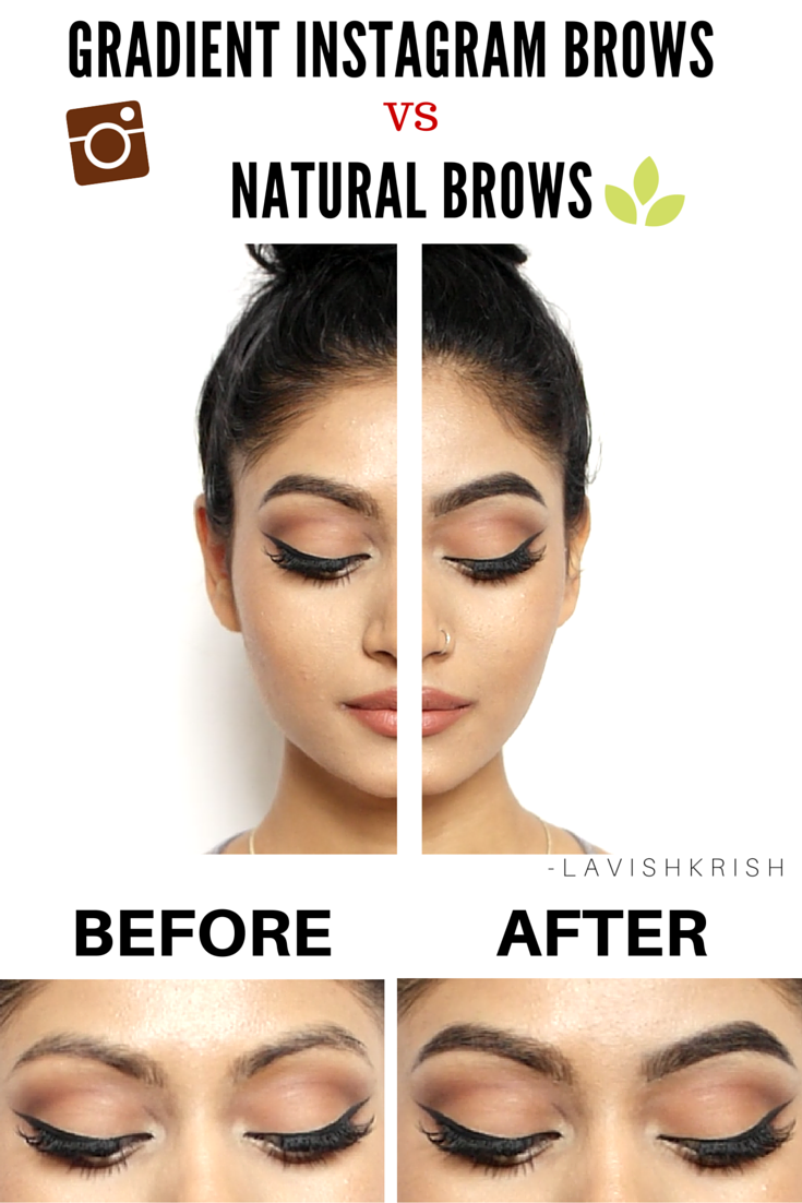 Instagram Brows Vs Natural Brows