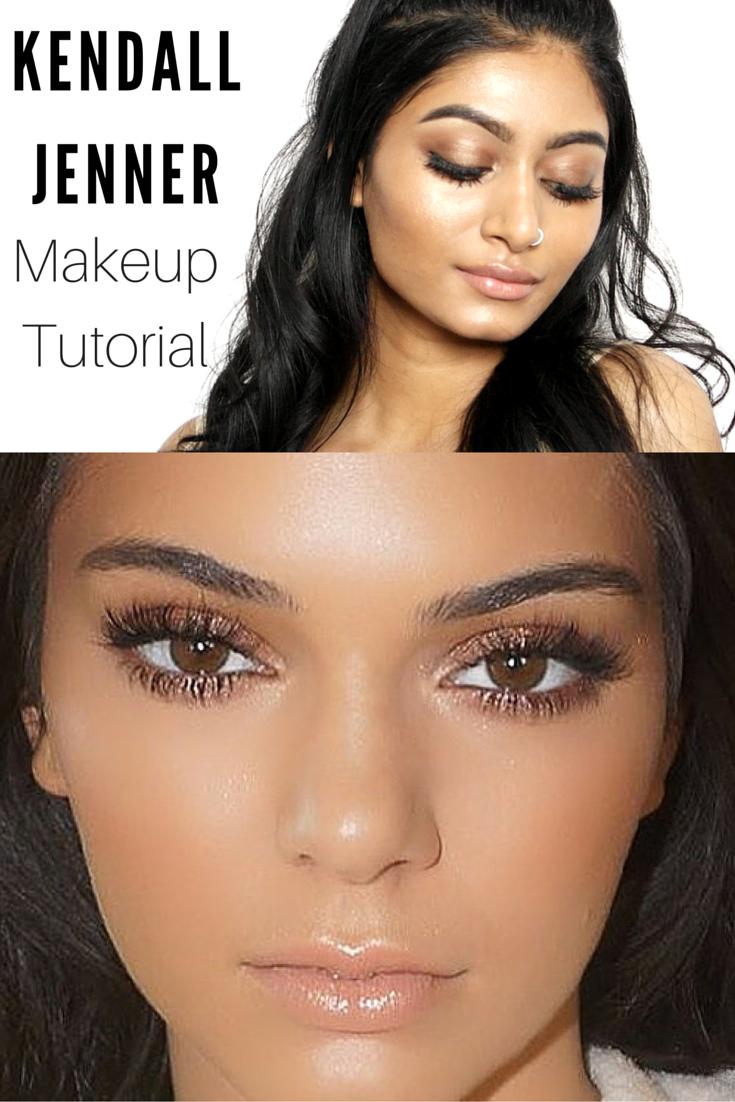 Kendall Jenner Inspired Makeup Tutorial | Bronzy + Glowy