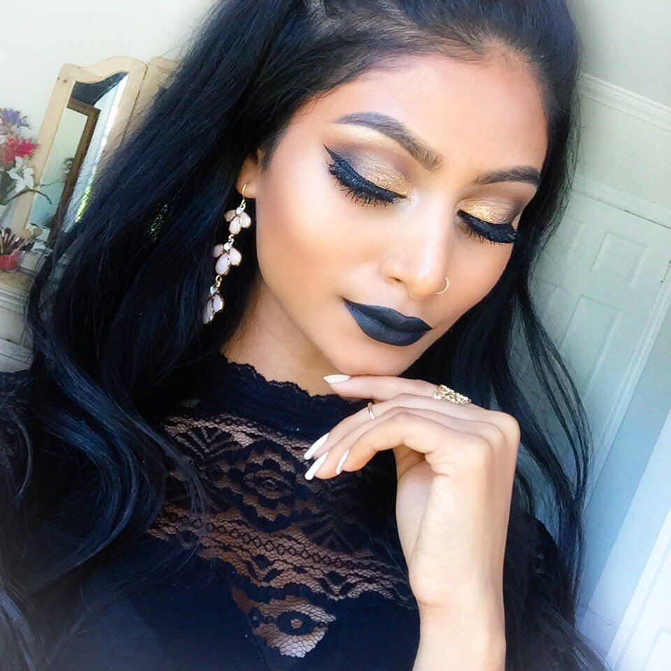 Smokey Eyes Amp Black Lips Baddie Makeup