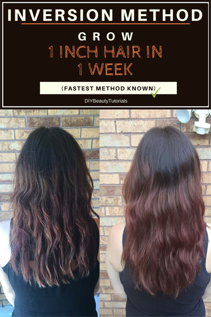 Inversion Method: Grow 1 INCH of Hair in 1 WEEK (Fastest Results)