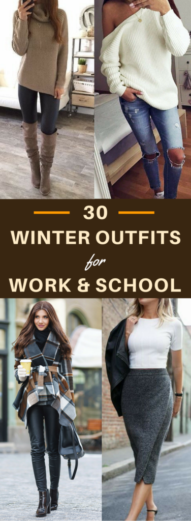 20 Decent Yet Chic Winter Outfits for Work AND School