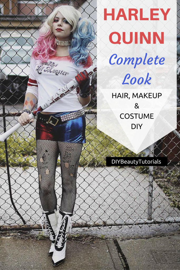 HARLEY QUINN Halloween Look: Hair, Makeup & Costume DIY