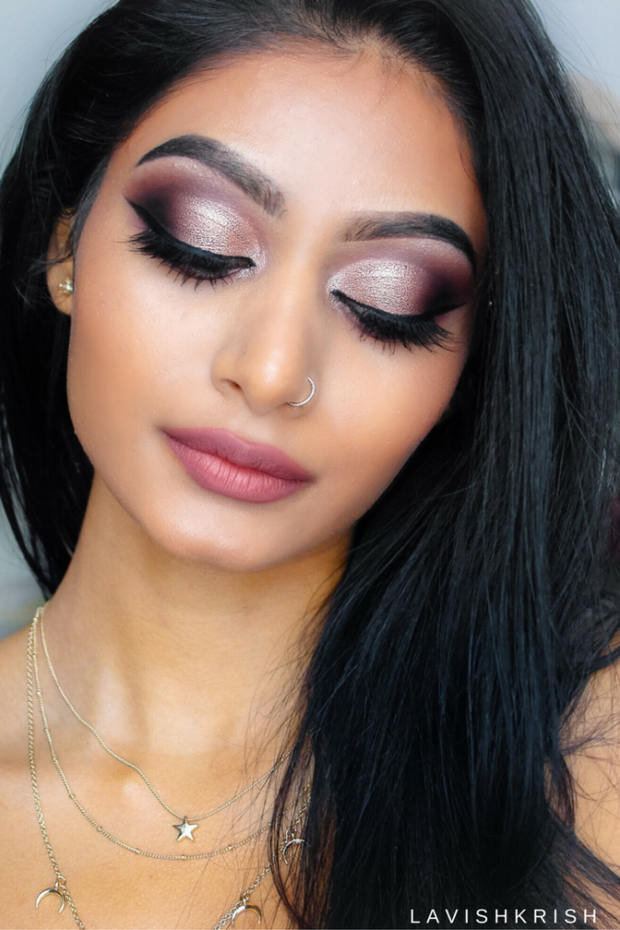 Half Cut Crease ROSE GOLD Smokey Makeup Tutorial | Lavish Krish